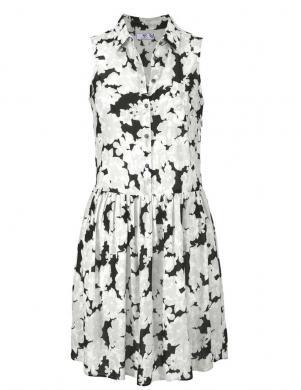 Melna kleita ar baltām puķēm AJC
