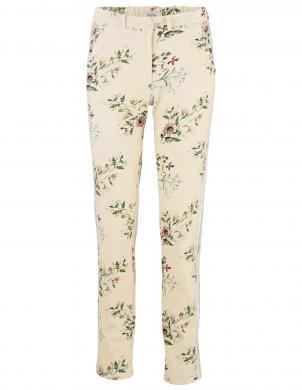 Smilšu krāsas bikses ar ziedu rakstu HEINE