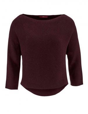S. OLIVER bordo krāsas stilīgs sieviešu džemperis