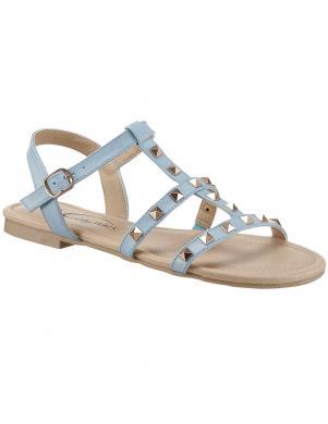 Zilas sieviešu sandales ar kniedēm CITY WALK
