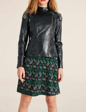 Melna ādas stilīga jaka HEINE