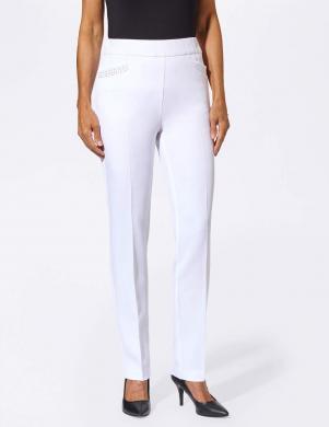Baltas elastīgas elegantas bikses FAIR LADY