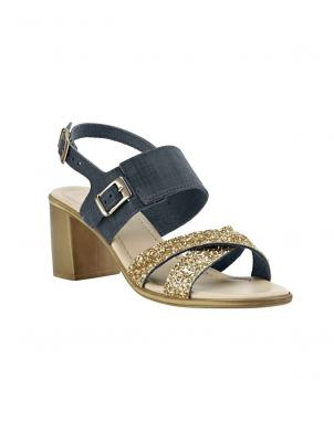 Sieviešu spīdīgas augstpapēžu sandales HEINE