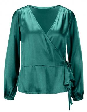 Smaragda krāsas satīna blūze CREATION L