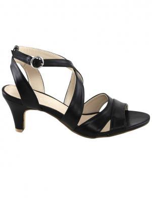 Melnas sieviešu augstpapēžu sandales ANDREA CONTI
