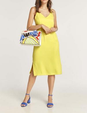 Eleganta dzeltena kleita ar lencēm HEINE