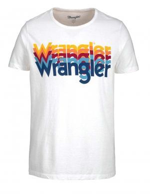 Balts vīriešu krekls ar aplikāciju WRANGLER