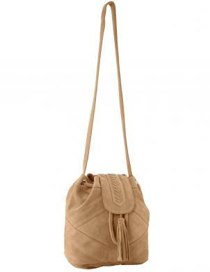 Zamšādas smilšu krāsas soma HEINE