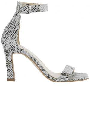 Stilīgas čūskas ādas raksta ādas sieviešu augstpapēžu sandales HEINE