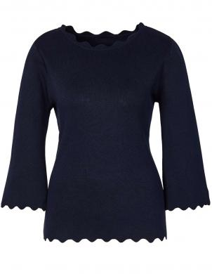 Stilīgs tumši zils džemperis ar zīdu CREATION L PREMIUM