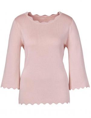 Stilīgs rozā džemperis ar zīdu CREATION L PREMIUM