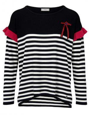 Svītrains vilnas džemperis ar sprādzi HEINE