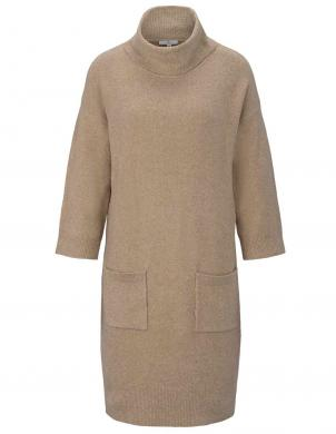 Smilšu krāsas adīta kleita TOM TAILOR