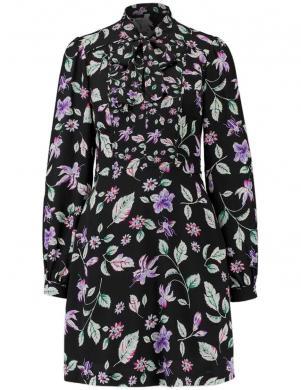 Melna puķaina kleita ar banti PEPE JEANS