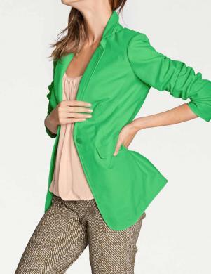 Zaļa ādas sieviešu jaka RICK CARDONA