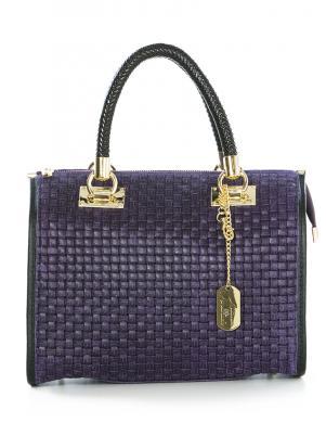 ANNA MORELLINI violeta ādas sieviešu soma