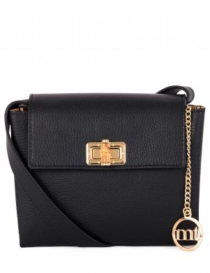 MIA TOMAZZI melna ādas sieviešu soma