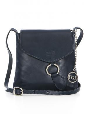 MIA TOMAZZI zila ādas sieviešu soma