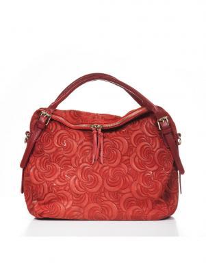 LUCCA BALDI bordo krāsas ādas sieviešu soma