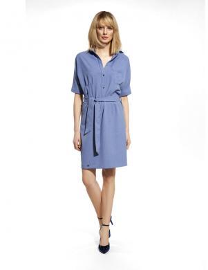 ENNYWEAR  zila kleita ar jostu
