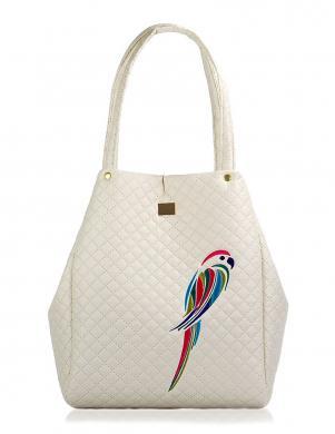 FARBOTKA liela krēmīgas krāsas sieviešu soma