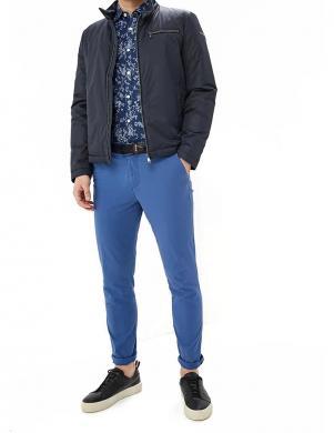 tumši zila vīriešu jaka