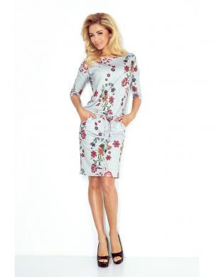 NUMOCO stilīga puķaina sieviešu kleita