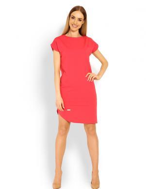 PEEKABOO koraļļu sieviešu kleita