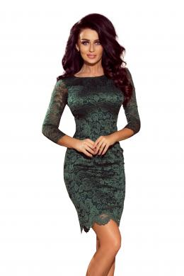 NUMOCO zaļa sieviešu kleita