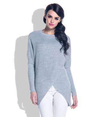 FOBYA pelēks sieviešu džemperis