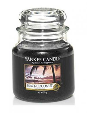YANKEE CANDLE aromātiskā svece BLACK COCONUT 104 g