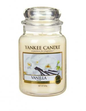 YANKEE CANDLE aromātiskā svece VANILLA 623 g