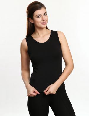 VIOLANA melns kokvilnas sieviešu krekls EDYTA