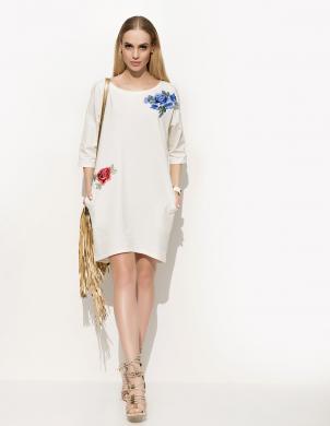 JELONEK M krēmīgas krāsas skaista sieviešu kleita