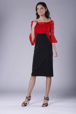 COLOUR MIST sarkana kleita