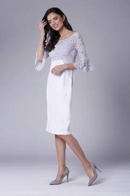 COLOUR MIST pelēka kleita