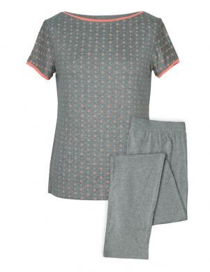 MUZZY pelēkas krāsas sieviešu ar īsām piedurknēm pidžama no viskozes
