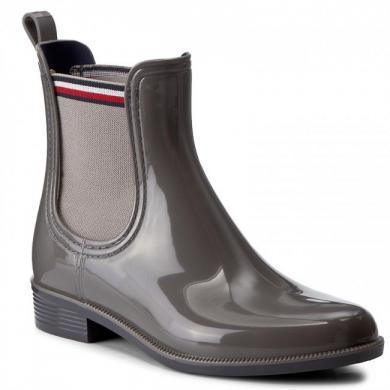 TOMMY HILFIGER sieviešu pelēki gumijas apavi