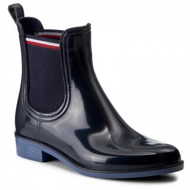 TOMMY HILFIGER sieviešu tumši zili gumijas apavi