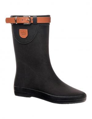 Sieviešu melni gumijas apavi ar lenci KEDDO