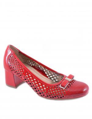 Sieviešu sarkani perforēti augstpapēžu apavi ARA