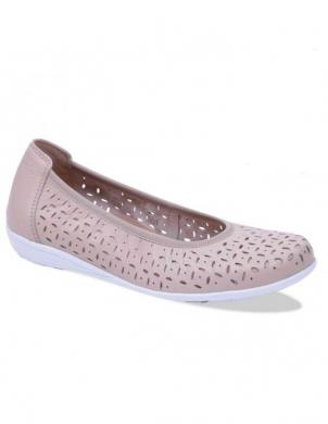 Sieviešu krēmīgas krāsas perforēti ādas apavi CAPRICE