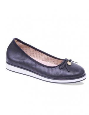 Sieviešu melni perforēti ādas apavi ar baltu zoli CAPRICE