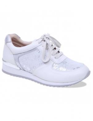 Sieviešu balti zamšādas brīva laika apavi CAPRICE