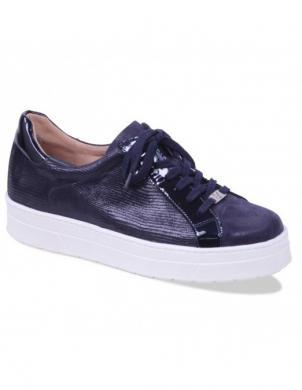 Sieviešu tumši zili zamšas un lakotas ādas brīva laika apavi CAPRICE