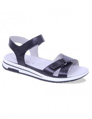 Sieviešu melnas atvērtas ādas sandales CAPRICE