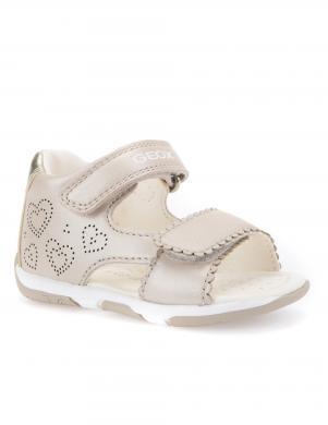 Bērnu krēmīgas sandales ar velkro aizdari B SANDAL TAPUZ GIRL GEOX