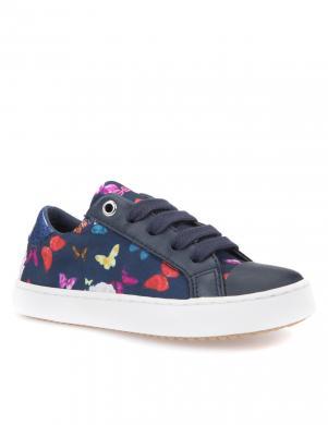 Bērnu zili apavi ar tauriņiem J GISLI GIRL GEOX