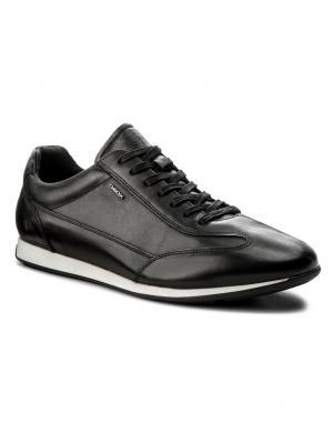 Vīriešu melni šņorējamie brīva laika apavi GEOX