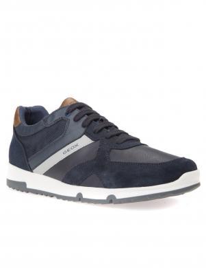 Vīriešu zili šņorējami brīva laika apavi  U WILMER GEOX